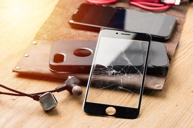 Protetor de tela de vidro temperado quebrado