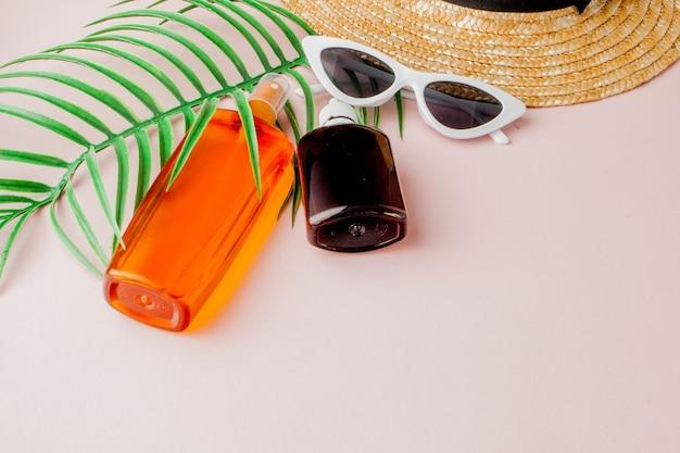 Protetor solar para garrafa em quadrado brilhante amarelo e rosa