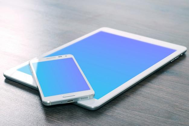 Protótipo de telefone celular e tablet