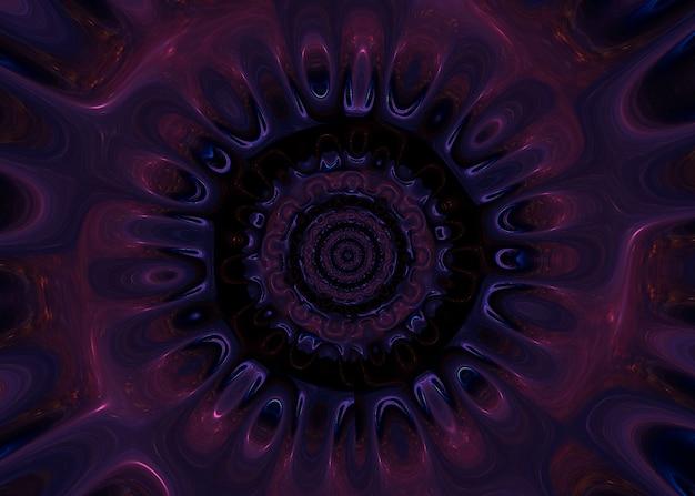 Psicodélico abstrato com cores neon Foto Premium