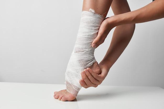 Psicoterapia para problemas de saúde nas pernas enfaixadas