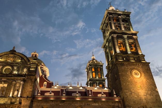Puebla, catedral, méxico