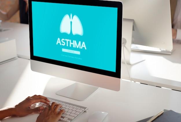 Pulmão medicina pneumonia asma bronquite conceito