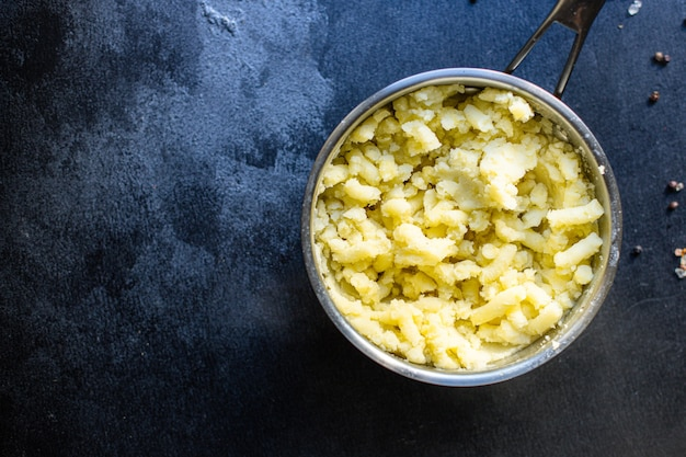 Purê de batatas vegetais vegan acompanhamento vegetariano dieta keto ou paleo