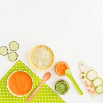 Purê de cenoura e pepino de maçã
