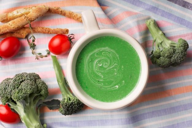 Purê de sopa de brócolis