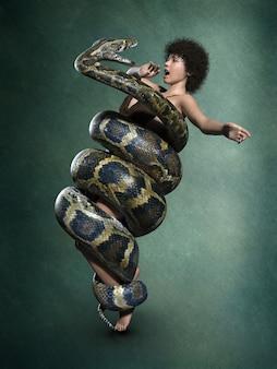 Python atacando um humano