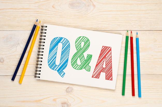 Q & a, perguntas e respostas conceito