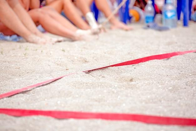 Quadra de vôlei na praia