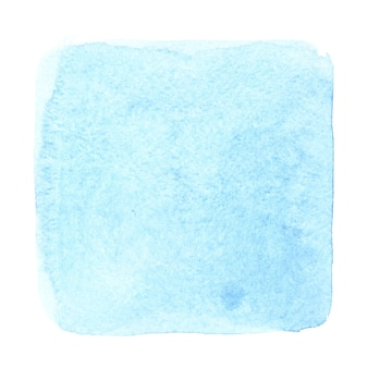 Quadrado aquarela azul ciano. fundo abstrato com textura de papel. elemento para o seu design