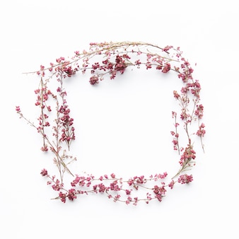 Quadrado de flores delicadas