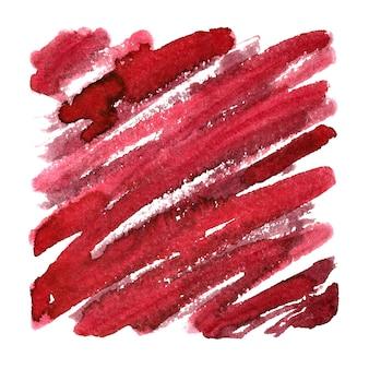 Quadrado vermelho com pinceladas expressivas. fundo abstrato. espaço para seu próprio texto. ilustração raster