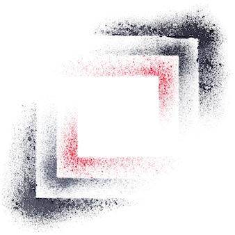 Quadrados de estêncil - fundo geométrico abstrato - ilustração raster