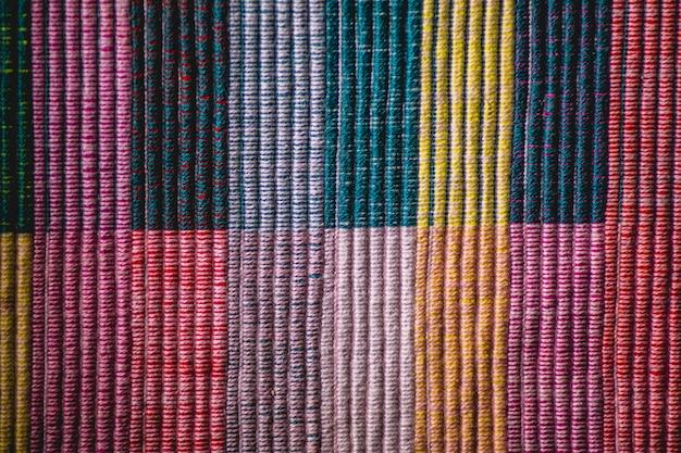 Quadrados de fios de algodão coloridos de fundo texturizado