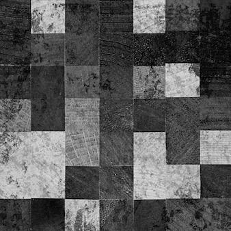 Quadrados de madeira escura