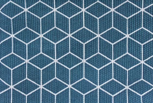 Quadrados de tecido de fundo azul