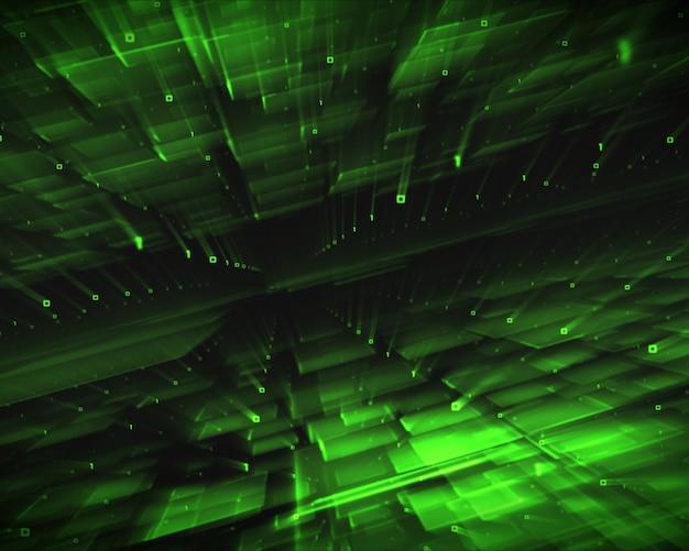Quadrados verdes abstratos