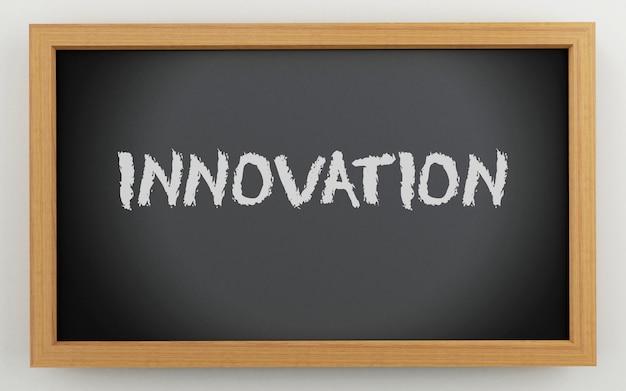 Quadro 3d com texto de inovação