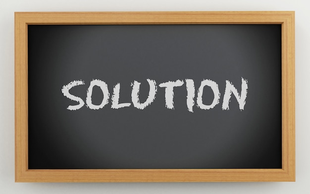 Quadro 3d com texto de solução