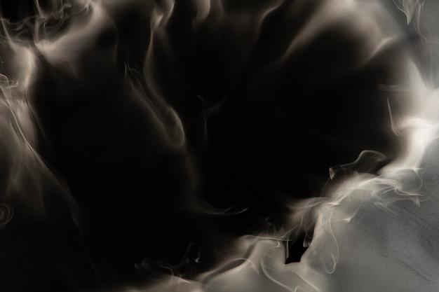 Quadro abstrato de fundo de fumaça, design de textura preta