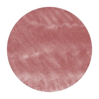 Quadro circular aquarela de mão desenhada burgundi