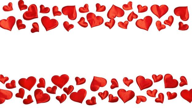 Quadro com corações vermelhos. feliz dia dos namorados.