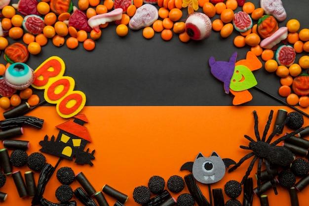 Quadro com decorações de halloween