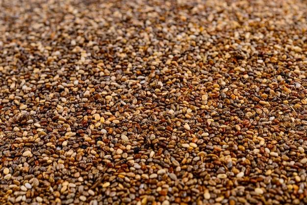 Quadro completo da semente de chia.