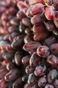 Quadro completo de uvas vermelhas maduras