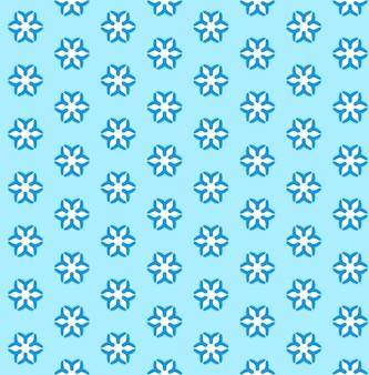 Quadro completo ilustrado de fundo de padrão de flocos de neve azul sem costura