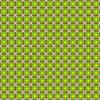 Quadro completo ilustrado de fundo verde amarelo padrão floral