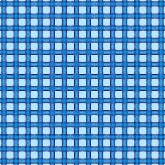 Quadro completo ilustrado fundo azul do padrão guingão
