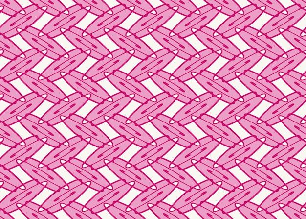 Quadro completo sem costura fundo abstrato ilustrado de padrão oval rosa no branco