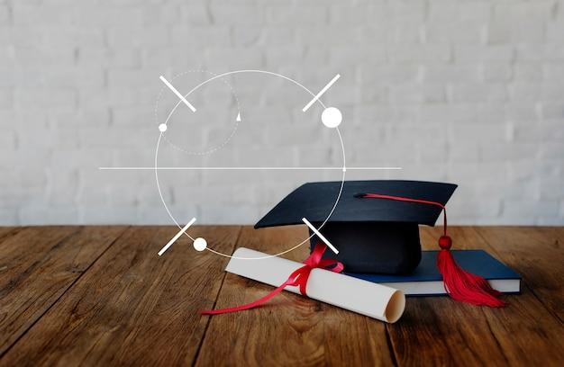 Quadro de banner de conhecimento de aprendizagem em educação