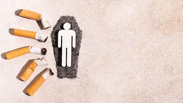 Quadro de bitucas de cigarro