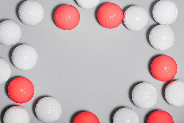 Quadro de bolas de golfe plana leigos