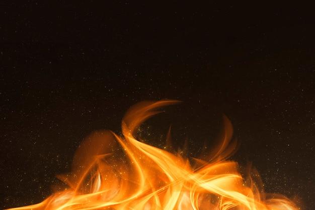 Quadro de borda de chama de fogo laranja dramático