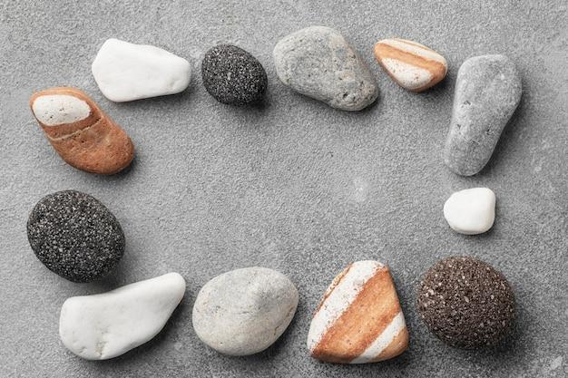 Quadro de coleta de pedra plana