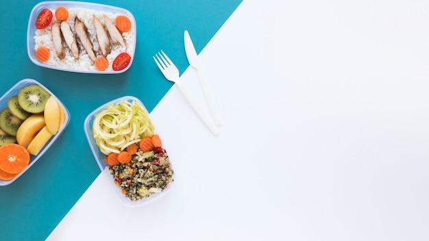 Quadro de comida com cópia-espaço