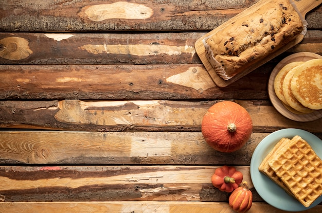 Quadro de comida de outono
