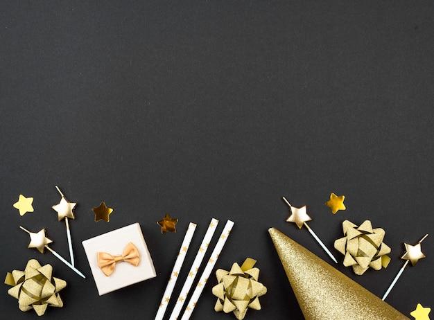 Quadro de decorações de aniversário acima da vista