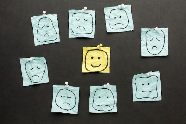 Quadro de desenhos emoji