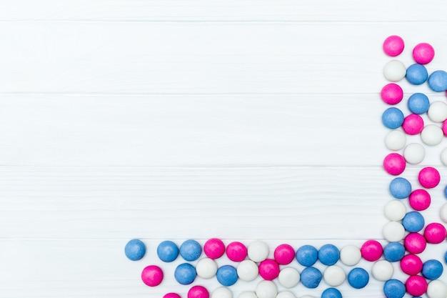 Quadro de doces de hortelã colorido
