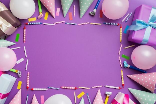 Quadro de elementos de aniversário