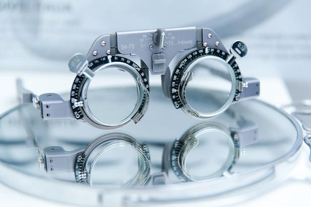 Quadro de ensaio de optometrista para teste de visão