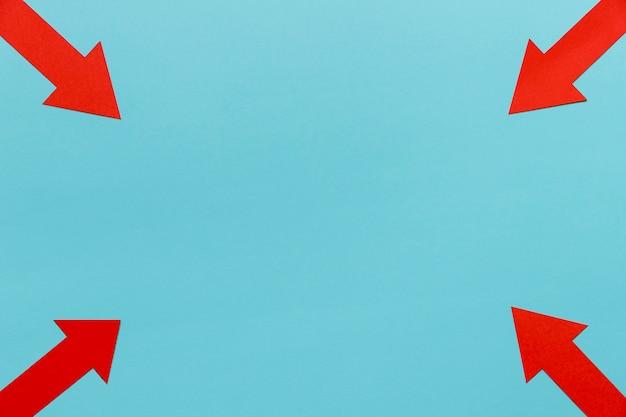 Quadro de flechas com cópia-espaço