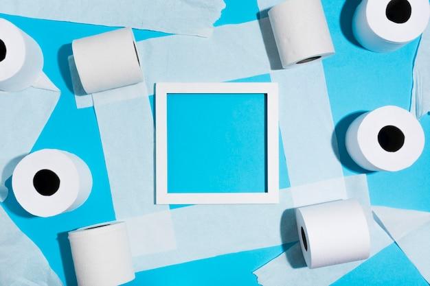 Quadro de folha de papel higiênico