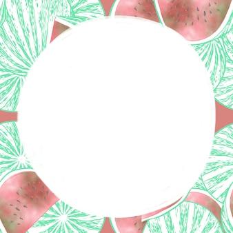 Quadro de frutas melancia
