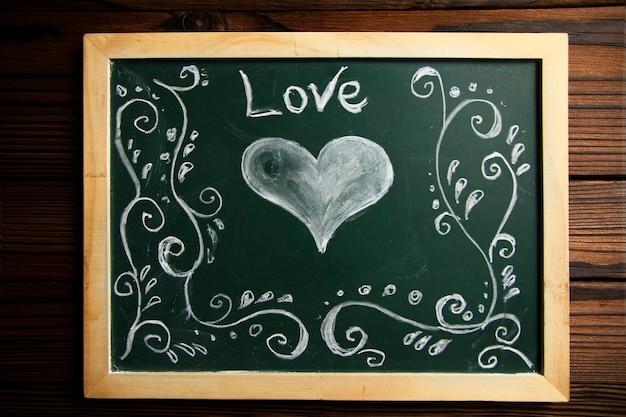 Quadro de giz estudo escola verde amor