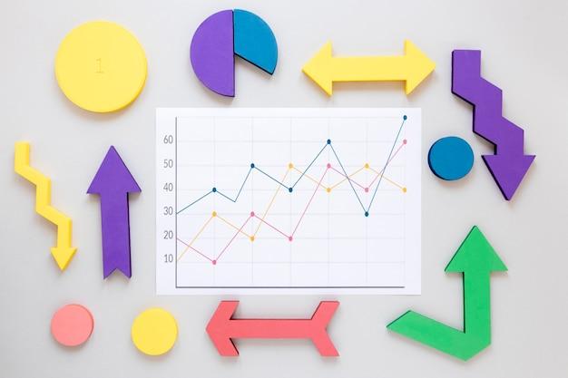 Quadro de gráficos de economia
